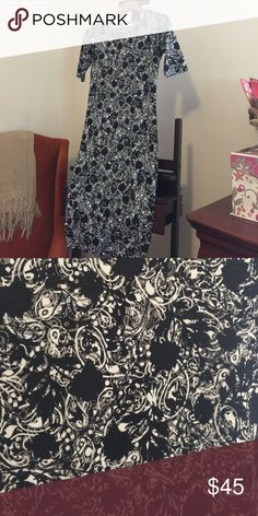 Brand New Lularoe XXS Julia. Black, grey and white Brand New! Never worn Julia, black grey and white. XXS LuLaRoe Dresses