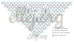 ergahandmade: Crochet Shawl + Diagram + Pattern Step By Step + Video Tutorial