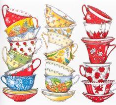 watercolor tea cup - Google Search
