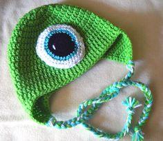 Crochet Mike Wazowski Inspired Disney's by LilyBean14Creations, $15.00