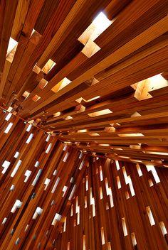 Wooden Lace House, Kumamoto, Japan Increíblemente complicado!
