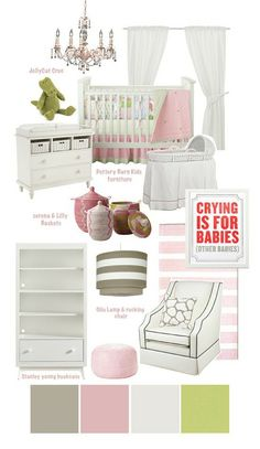 Baby girl nursery/ change whit to expresso and add a lilac purple