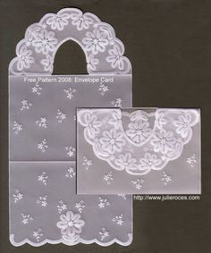 Julie Roces pattern and instruction pergamano Craft Bags, Craft Gifts, Parchment Design, Parchment Cards, Craft Wedding, Wedding Prep, Newspaper Crafts, Craft Free, Templates Printable Free