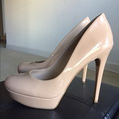 Bette-Nude Patent Jessica Simpson Worn only ones to a wedding. Great condition. No scratches. Jessica Simpson Shoes Heels