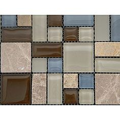 @Overstock - Achieve a sophisticated update in your home using the Sabbia Multi glass and tumbled stone wall tiles. These wall tile sheets feature colors of Caribbean blue, soft cream and browns with textured stone accents, perfect for a kitchen, bath or backsplash.  http://www.overstock.com/Home-Garden/Oceano-Multi-12-inch-Wall-Tile-Sheets-Pack-of-11/4846673/product.html?CID=214117 $193.99