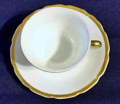 VINTAGE CUP AND SAUCER MADE IN OCCUPIED JAPAN WHITE WITH GOLD TRIM #TEACUP