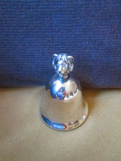 Baby gift//Neiman Marcus Silver Bell // Lion Silver Bell // Baby's Bell // New Born Gift // Baby Shower Gift// Neiman Marcus Collectible