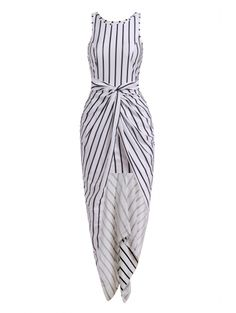 SHARE & Get it FREE | Vertical Stripes Asymmtrical Racerback Maxi DressFor Fashion Lovers only:80,000+ Items • New Arrivals Daily Join Zaful: Get YOUR $50 NOW!