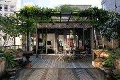 Fabulous roof terrace of Hollywood film director Marcus Nispel's spacious SoHo Loft. via Sous Style
