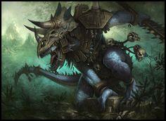 E621 armadura incrível asteca roupas garras Daarken lagarto macho lizardman open_mouth crânio do réptil saurus scalie língua de solo warhammer_ (franchise) arma warhammer_fantasy_battle