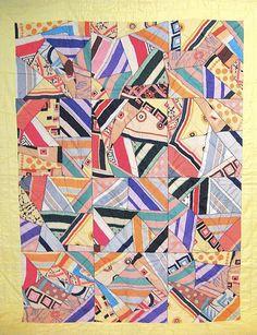 1930's art deco crazy quilt, originally seen at ebay