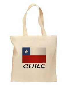 Chile Flag Grocery Tote Bag