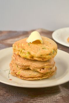 Zucchini pancakes-- these are amazing! Fluffy and light