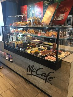 I went to McDonald& in France and discovered how the US is doing it all wrong is part of Bakery shop design I recently went on a trip to southern France and noticed that the McDonald& restaurants - Bakery Shop Interior, Bakery Shop Design, Coffee Shop Interior Design, Restaurant Interior Design, Cafe Design, Design Design, Decoration Restaurant, Bakery Decor, Bakery Display