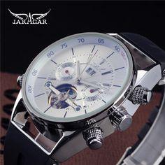 US $58.80 - Jaragar Self-winding Clock Tourbillon Automatic Mechanical Rubber Auto Date Men Watch Luxury Sport Watches Army Male Wristwatch