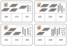 Voici quelques jeux auto-correctifs permettant à mes élèves de CE1 de réviser des notions decalcul et numération. D'autres jeux pour réviser la grammaire sont ici. Pour les rendre auto-corre… School Organisation, Math 5, Montessori Math, Math School, Primary Maths, Math Numbers, 2nd Grade Math, Math Classroom, Teaching Tips
