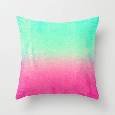 SUNNY MELON Throw Pillow