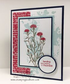 Stampin' Up! Wild About Flowers with How To Video, Kay Kalthoff, Gorgeous Grunge, Petite Pairs, #stampingtoshare