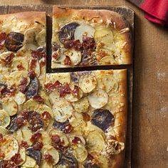 Potato, Rosemary, and Bacon Pizza Recipe - Health Mobile