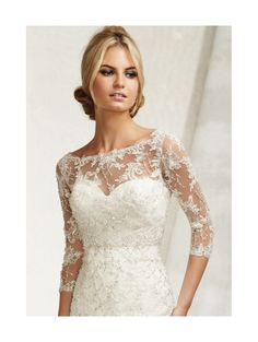MORI LEE 11014 Ivory Lace Jacket only with 3/4 length sleeves