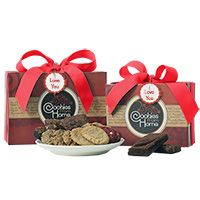 Red Gourmet Gift Box - I Love You - Cookie and Brownie Options