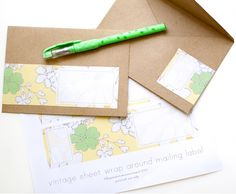 vintage floral wrap around mailing label - FREE printable! via Going Home to Roost