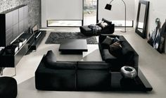 All black everything - living room furniture