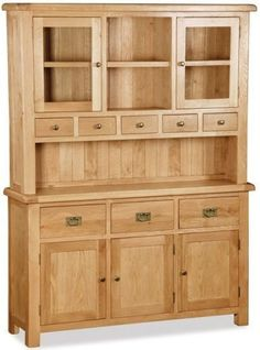 Buy Global Home Salisbury Oak Dresser online by Global Home from CFS UK at unbeatable price. Hardwood Furniture, Amish Furniture, Dream Furniture, Home Furniture, Furniture Design, Furniture Legs, Furniture Stores, Large Dresser, Oak Dresser