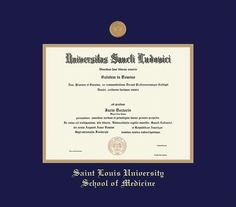 custom diploma frames certificate frames framing success slu sch of medicine medical