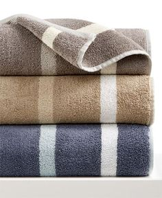 Hotel Collection Contrast Stripe Bath Towel, Only at Macy's - Bath Towels - Bed…