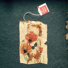 363 days of tea. Day 143. #recycled #teabag #art