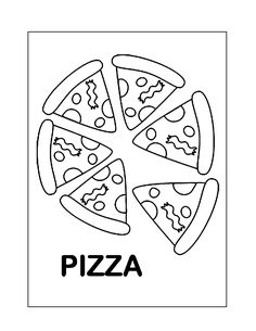 Pizza Coloring Page, Food Coloring Pages, Bear Coloring Pages, Pizza Chef, Make Your Own Pizza, Pizza Delivery, Tasty, Yummy Food, Pizza Dough