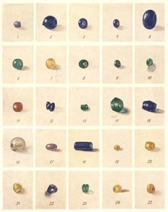 Kievan Rus beads 12 century CE.  Not Viking age, though some of the types overlap.