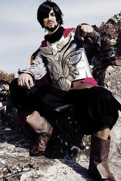 Assassin's Creed II Ezio Auditore da Firenze Black Edition Cosplay Costume
