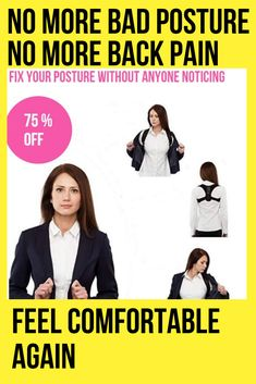 The Best Posture Corrector For Men and Women! The Top Posture A Back Brace For Posture and Mind. Our Zeowo Back Posture Corrector heals your back problems and your depression. Our Zeowo Posture Corrector is made of custom cushioning. Back Brace For Posture, Fix Your Posture, Better Posture, Bad Posture, Shoulder Posture Corrector, Posture Corrector For Men, Shoulder Support Brace, Muscle Imbalance, Perfect Posture