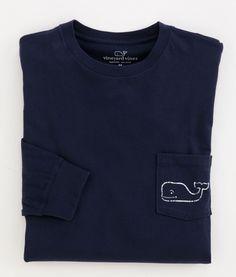 Long-Sleeve Vintage Whale Graphic T-Shirt - Vineyard Vines