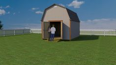 12x16 barn shed plans from shedking will help you build this neat looking and very functional storage shed Shed Plans 8x10, 10x12 Shed Plans, Farm Plans, Wood Shed Plans, Free Shed Plans, Shed Building Plans, Storage Shed Plans, Cabin Plans, Small Barn Plans