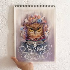 Night Owl by June Digan | logo and typography inspiration | digital media arts college | www.dmac.edu | 561.391.1148