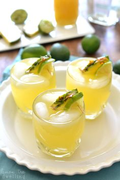 Pineapple Palomas are a sweet, refreshing twist on the original. Enjoy them by the glass or make a pitcher to share....either way, they're the perfect drinks for summer!