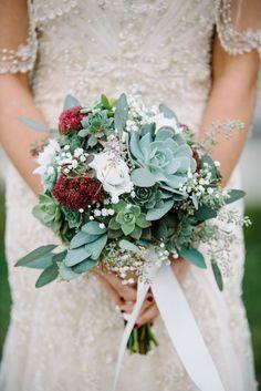 Buque de suculenta para noiva (10)