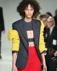 Meet the new #CalvinKlein as envisioned by #RafSimons. The designer debuted a poignant collection for the brand with a nod to all manner of Americana from double breasted power suits to varsity stripes. #NYFW  via ELLE CANADA MAGAZINE OFFICIAL INSTAGRAM - Fashion Campaigns  Haute Couture  Advertising  Editorial Photography  Magazine Cover Designs  Supermodels  Runway Models