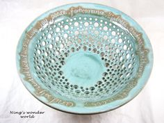 Custom Engraving Wedding Gift Personalized 9th Anniversary Engraved Fruit Bowl Pottery
