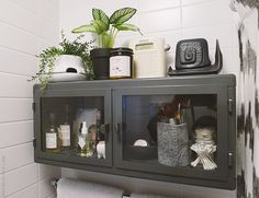 I need to mention again how much I love this RÅSKOG wall cabinet from IKEA. I had it in the bathroom in my previous apartment, too. It's the perfect size, ...