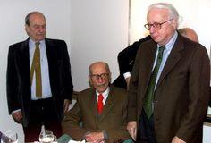 Tre maestri - Tre patriarchi del giornalismo italiano ritratti insieme: Enzo Biagi, Giorgio Bocca, Indro Montanelli.