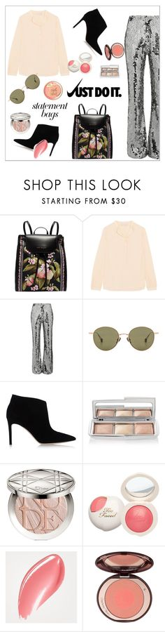"""""""Arm Candy: Statement Bags"""" by alinepinkskirt ❤ liked on Polyvore featuring Ted Baker, STELLA McCARTNEY, Filles à papa, Ahlem, Gianvito Rossi, NIKE, Hourglass Cosmetics, Christian Dior, Burberry and statementbags"""