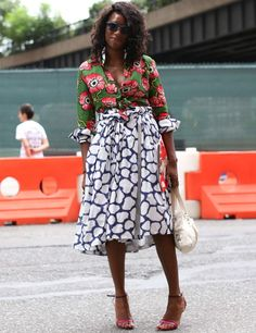 New York Fashion Week-great mix of prints.. Can it be summer again ?