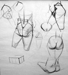 "Anatomy Studies Demo: ""Figure Studies"" - Page 2 Drawing Male Anatomy, Human Drawing, Hip Anatomy, Drawing Legs, Gross Anatomy, Human Body Anatomy, Anatomy Sketches, Human Body Art, Anatomy Study"