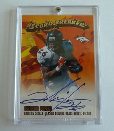 CLINTON PORTIS 2003 Topps Record Breakers Auto Graph On Card Broncos Redskins #DenverBroncos