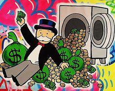 Etsy :: Ваше место для покупки и продажи изделиий ручной работы Easy Dollar Bill Origami, Street Art Banksy, Dope Cartoons, Graffiti Drawing, Cute Doodles, Urban Art, Cartoon Art, Art Pictures, New Art