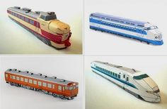Retired Japanese Trains Paper Models In HO Scale - by West JR.